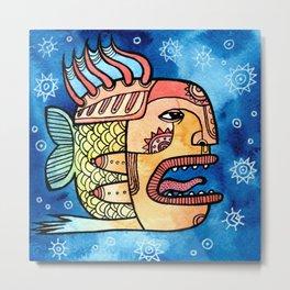Woman-fish Metal Print