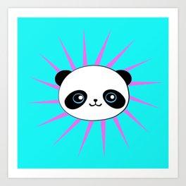 Wild Rockstar Panda Art Print