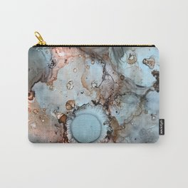 Shadow Grey Abstract Painting Carry-All Pouch