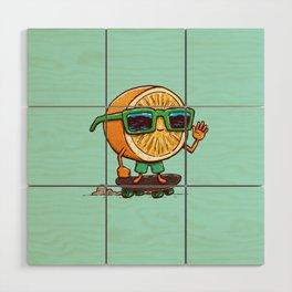 The Orange Skater Wood Wall Art