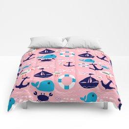 Summer boat pink Comforters