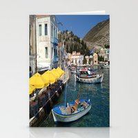 boats Stationery Cards featuring Boats by Sumii Haleem
