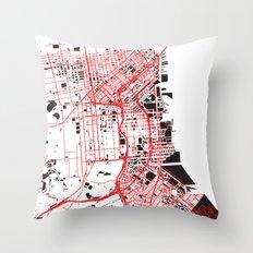 San Francisco Noise Map Throw Pillow