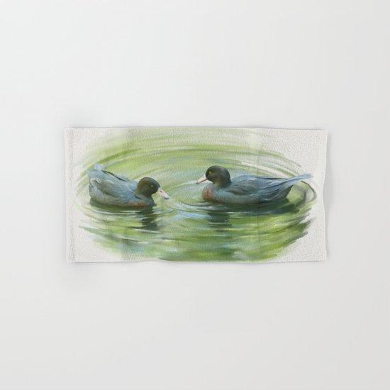Blue Ducks in pond Hand & Bath Towel