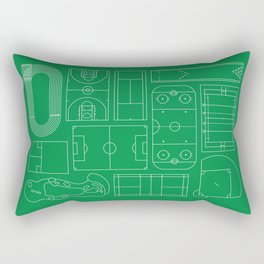 Sport Courts Pattern Art Rectangular Pillow