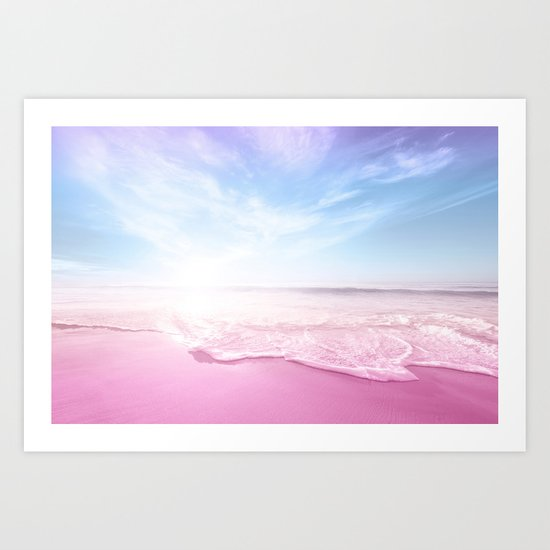Pastel Summer Beach Vacation Art Print