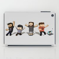gaming iPad Cases featuring Inside Gaming: Minecraft Edition by padabite