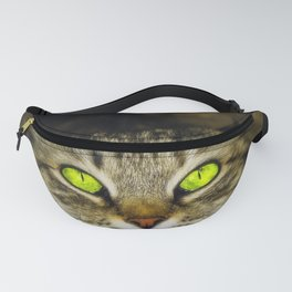 Cat with Green Eyes Fanny Pack