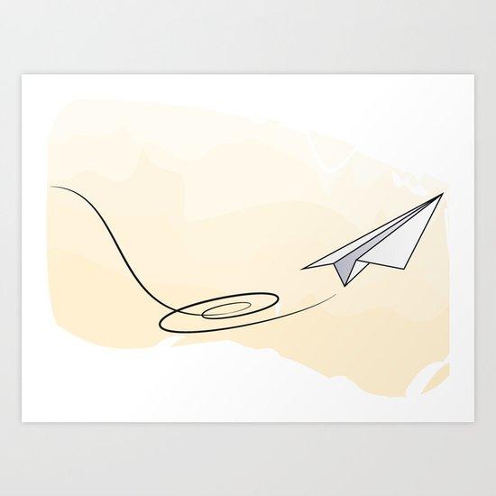 Paperplane Art Print