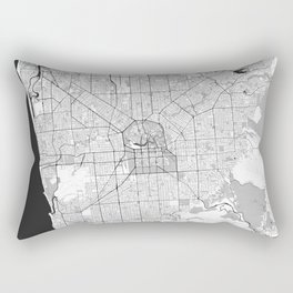 Adelaide Map Blue Vintage Rectangular Pillow