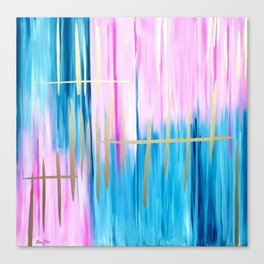 Pink Abstract, Pink art, Acrylic abstract, Pink Gold, Pink painting, Handmade Canvas Print