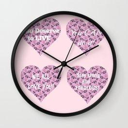 Encouragement hearts Wall Clock