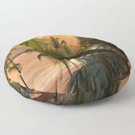 Kauai Tropical Island by OLena Art Floor Pillow