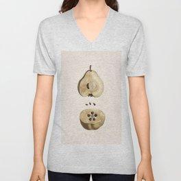 Pear Disection Botanical Illustration Unisex V-Neck