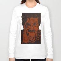 kurt vonnegut Long Sleeve T-shirts featuring Kurt Vonnegut, Jr. by Emily Storvold