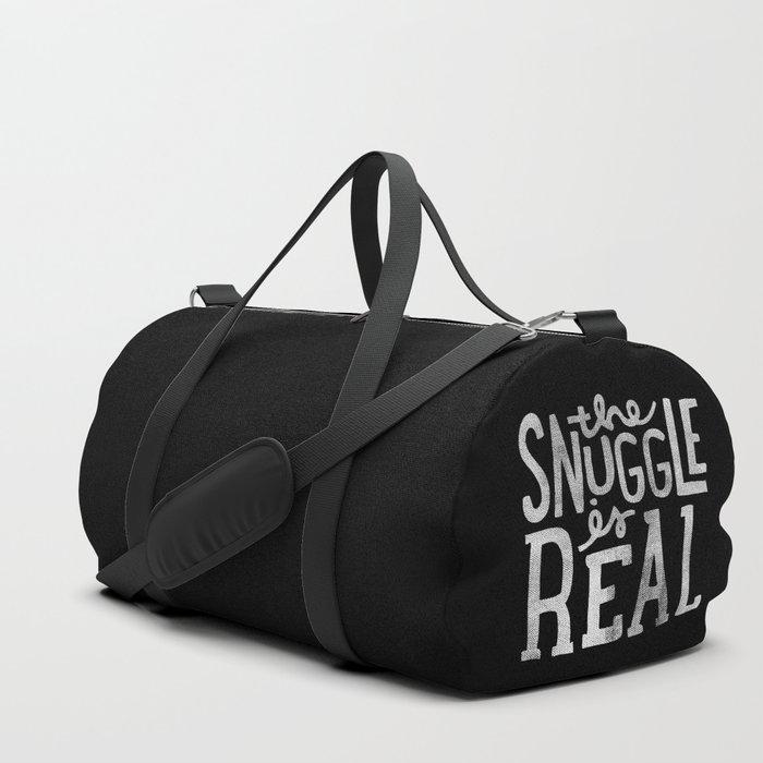 Snuggle is real - black Duffle Bag