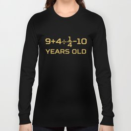 15 Years Old Algebra Equation Funny 15th Birthday Math Long Sleeve T-shirt