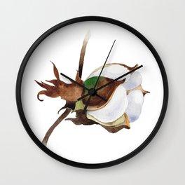 Cotton Flower 05 Wall Clock