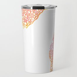 Atomic Bubbles - Pink, Yellow Travel Mug