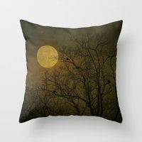 dark side of the moon Throw Pillows featuring Dark Side by RDelean
