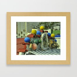 Buoys will be Buoys  Framed Art Print