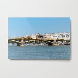 Margaret Bridge in Budapest - Hungary Metal Print