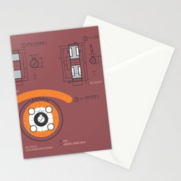 eye's mechanics Stationery Cards