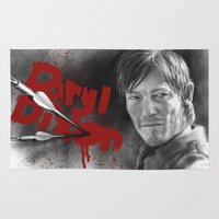 daryl Area & Throw Rugs featuring Daryl Dixon by TheJustArts