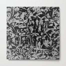 Black - Silver - Crazy Metal Print