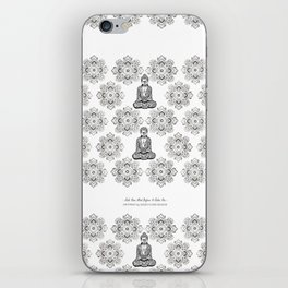 """Rule Your Mind Before It Rules You"" Wise Words and Quote on Yoga, Fitness Outfits and Leggings iPhone Skin"