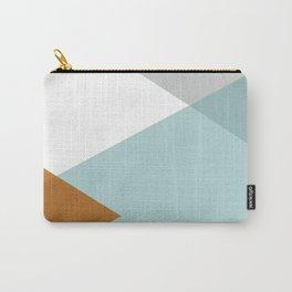 Geometrics - aqua & orange concrete Carry-All Pouch