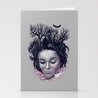 laura palmer Stationery Cards featuring Laura by Jorge Garza