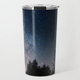 Milky Way Over Forest Travel Mug