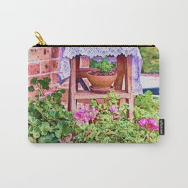 Terracotta and Geraniums Carry-All Pouch