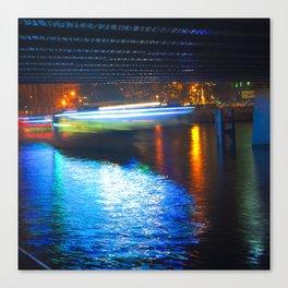Floating Aqua Lighting Canvas Print
