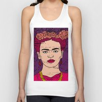 frida Tank Tops featuring frida by gzm_guvenc
