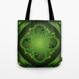 Vintage Green Gecko Tote Bag