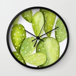 Bohemian Nopales Cactus Wall Clock