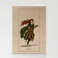 valar morghulis Stationery Cards featuring Nessa by wolfanita