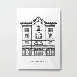 Fulton Opera House - Lancaster Series- Pennsylvania Art Metal Print