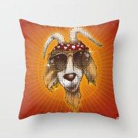 rockabilly Throw Pillows featuring Rockabilly by Chip David