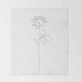 Fragile Rose Throw Blanket