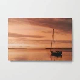 Sunset over Grand Traverse Bay Metal Print