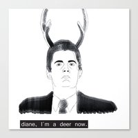 dale cooper Canvas Prints featuring Dale Cooper by Mir Santos