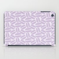 macaroon iPad Cases featuring French Pattern - Violet Macaron - Purple Macaroon by French Macaron Art Print and Decor Store