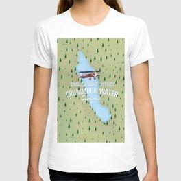 Crummock Water, lake district map travel poster T-shirt
