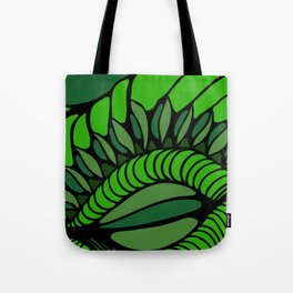 Shell in Abstract Green Tote Bag