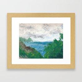 Long Point, Catalina Island Framed Art Print