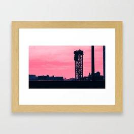 Chicago River Warehouses Framed Art Print