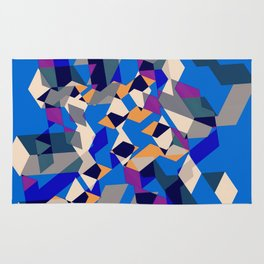 Blue collage Rug